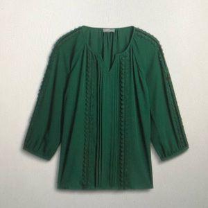 41 Hawthorn Fillmore Crochet Detail Blouse, XSP